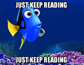 Glebe AR Finding Dory just keep reading