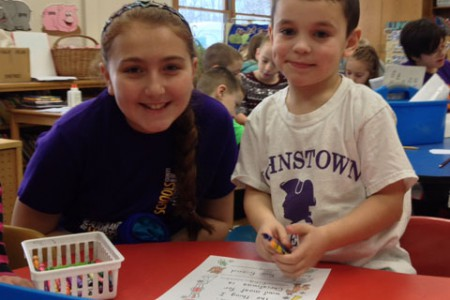 Sixth Graders Help Little Buddies with Letters to Santa
