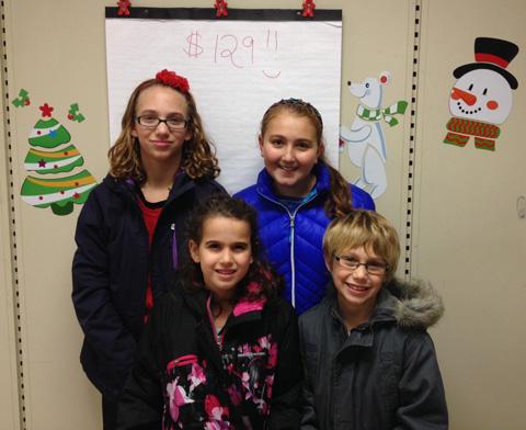 Four girls at craft fair