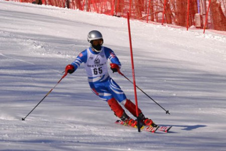Levin Competing at State Skiing Championships