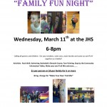 Family Fun Night Planned for March 11
