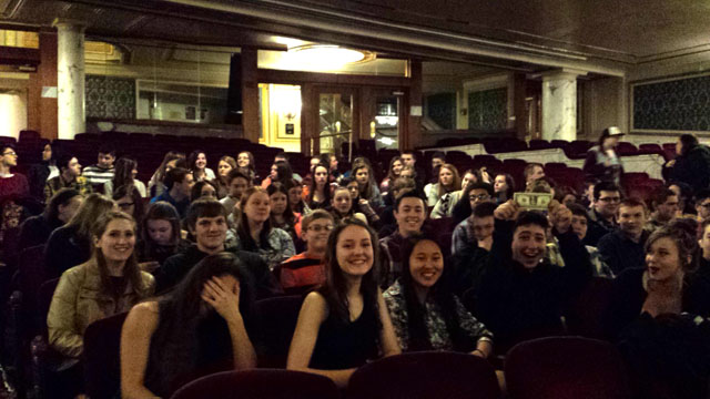 students in Proctors Theatre