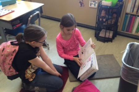 Buddies Read Together at Glebe