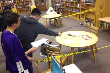 Murder Mystery Unfolds in JHS Library