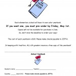 Elementary Yearbook Orders Due by May 1