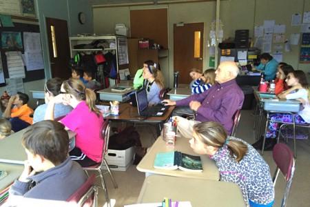 Visitor Takes 6th Grade on Virtual Field Trip