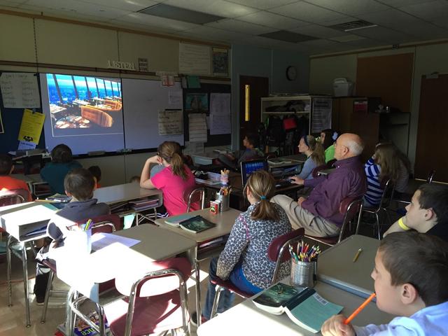 Mr Ettington shows PowerPoint presentation