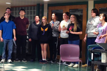 JHS Rock-apella Group Wows Board of Ed