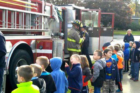 Fire Department Visits Pleasant Students