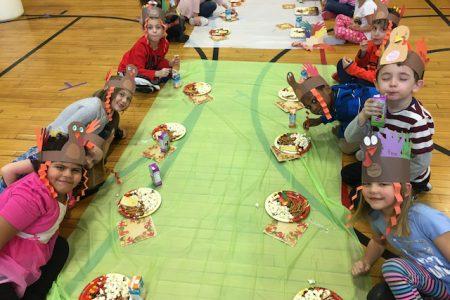 First Graders Enjoy Thanksgiving Treat