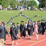 faculty processional on Knox track