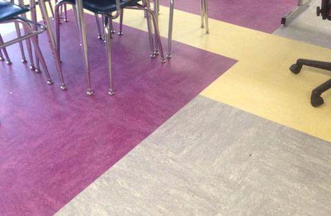 new flooring in Warren Street classroom