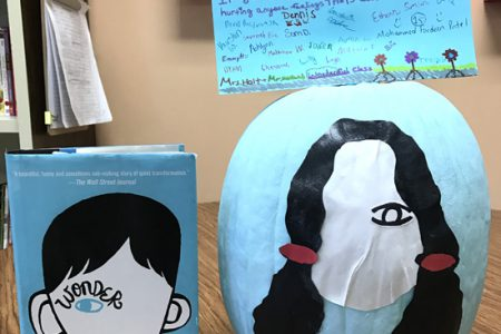 """Sixth Graders Create """"Wonder"""" Pumpkins"""