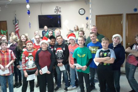 A Little Holiday Music at the Senior Center