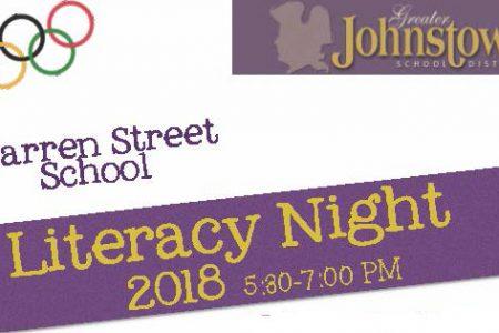 Literacy Night 2018 – Wednesday, March 21st