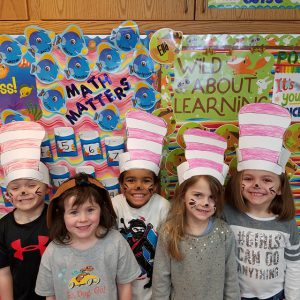 second group in paper Cat in the Hat hats
