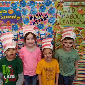 third group in paper Cat in the Hat hats