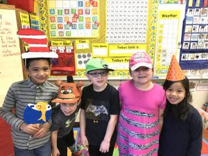 more students with hats