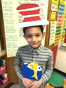 boy in cat in the hat hat