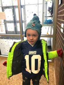 another student with a numbered jersey