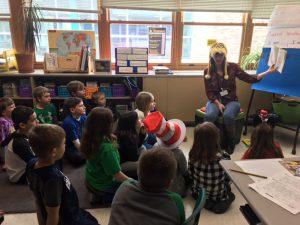 children listening to guest reader