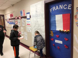 students by display for France