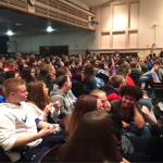 students gathered in auditorium