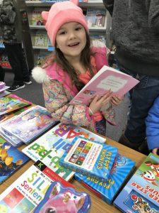 girl at book fair