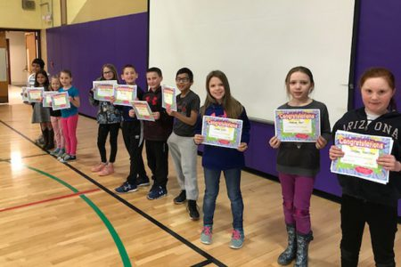 Students Recognized at Morning Program