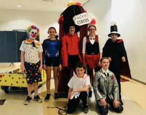 Seventh grade Knox Energetic Engineers, coached by Joe Naselli & Chris Hutchison. Back row: Alex DeMagistris, Molly Sweeney, Trey Naselli, Madeline Connelie, Tyler Hutchison. Front row:Garrett Bobowski, DJ Long