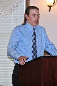 Jeremy Mowrey at podium