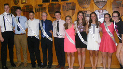 photo of students comprising homecoming court