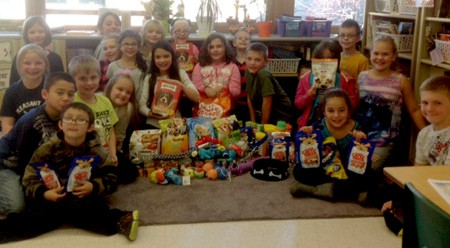 "Third Grade Community Service Project is ""Paws-itively"" Successful"