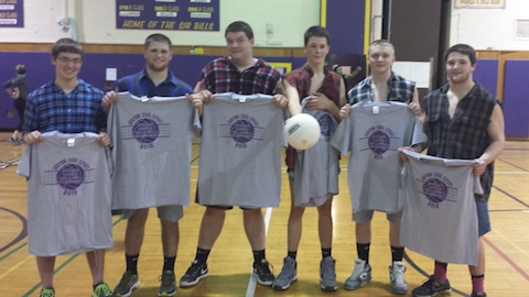 student volleyball team