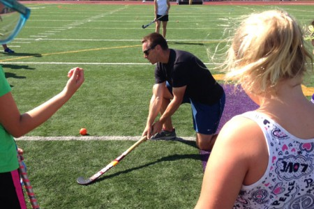 Duke Coach Leads Field Hockey Clinic