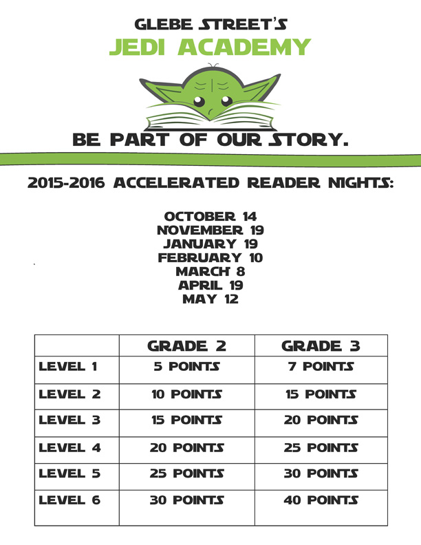 Jedi Academy Accelerated Reader Flyer