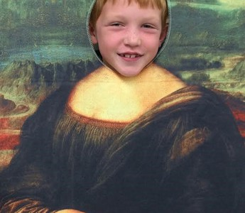 Young Artists Study da Vinci's Mona Lisa