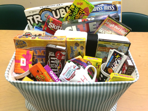 picture of basket with goodies