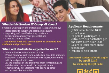 Apply Now for Next Year! Student IT Group