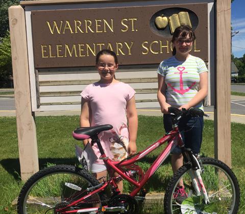 Maya & Emily with bike