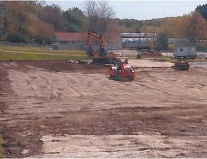 bulldozer on dirt at Knox