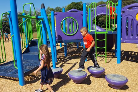 Pleasant Students Love New Playground