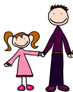 clip art father and daughter
