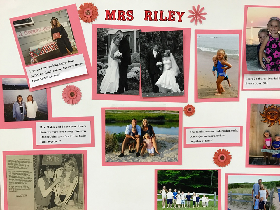 poster about Mrs. Riley