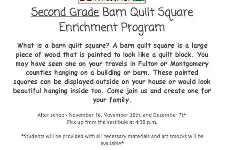 Barn Quilt Square Enrichment Program