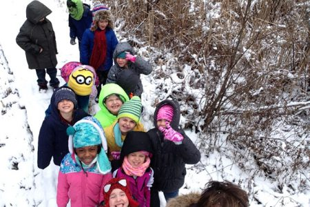 First Graders Investigate Tracks in the Snow