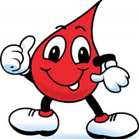 smiling cartoon blood drop