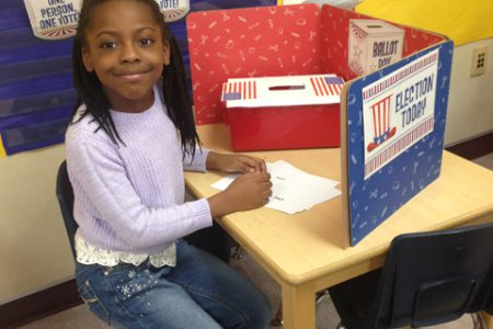 First Graders Cast Ballots; the Winner is…