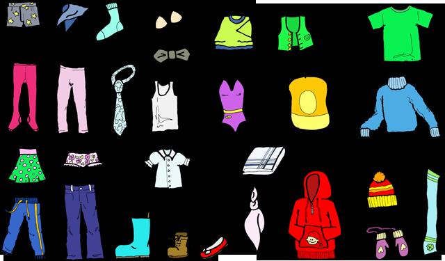 clip art of clothing - jackets, socks, ties, etc.