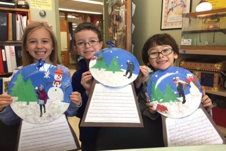 Second Graders Imagine Life in a Snow Globe